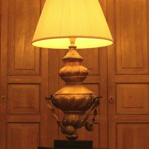 Antiques Coppia Lampade Da Tavolo Epoca 800